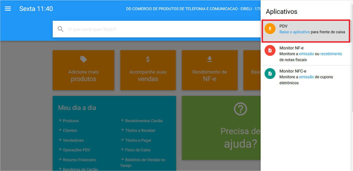 Aplicativos - PDV - Baixar