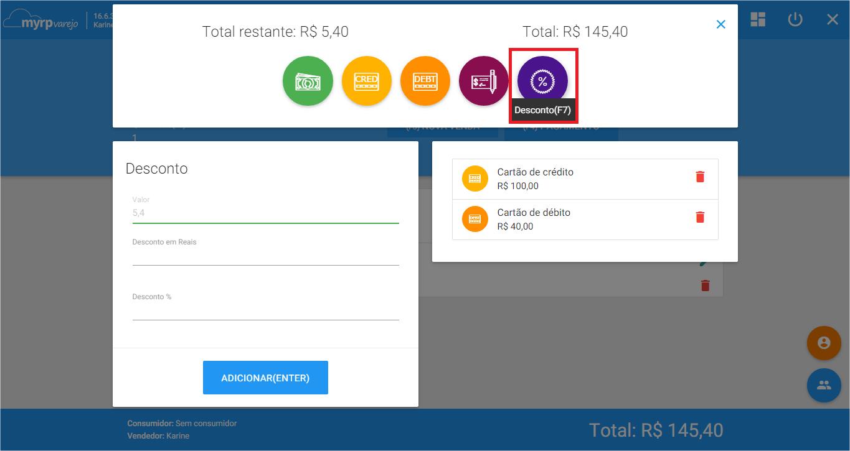 PDV - Cond pagamento Desconto icone