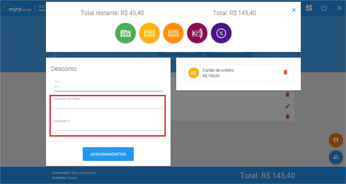 PDV - Cond pagamento Desconto