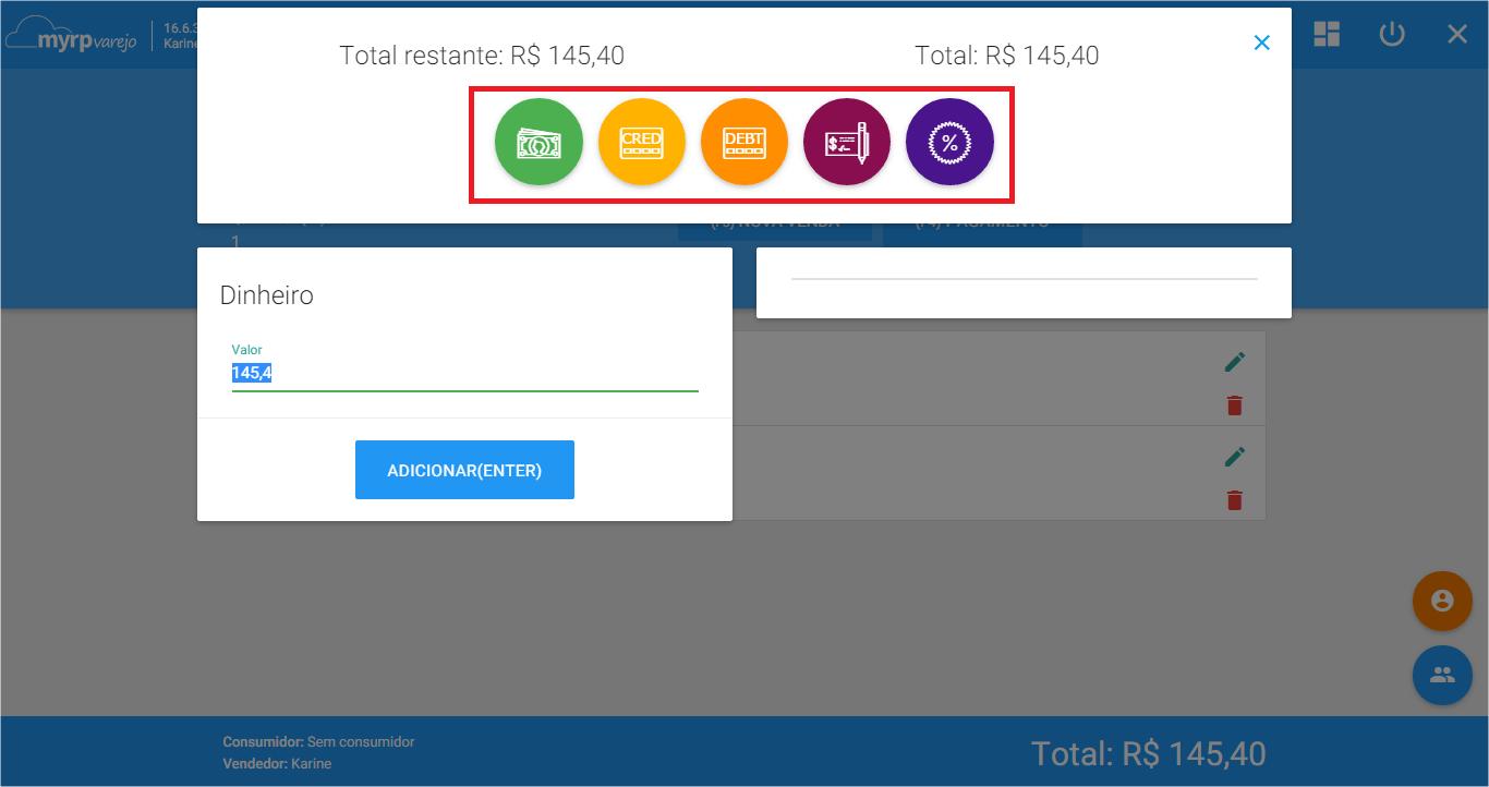 PDV - Cond pagamento