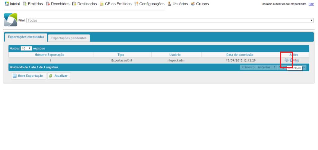 myrp - exportar nova - download