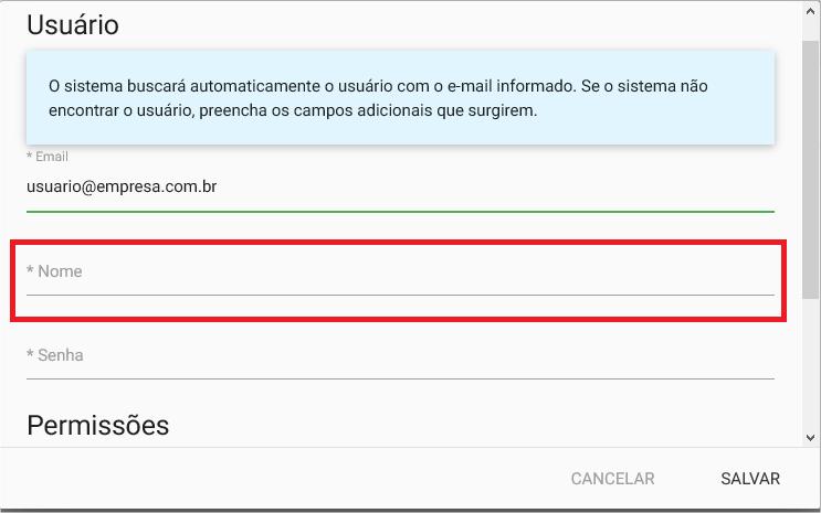Config - Usuarios - Nome