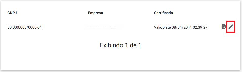 Configuração - Empresa - Editar