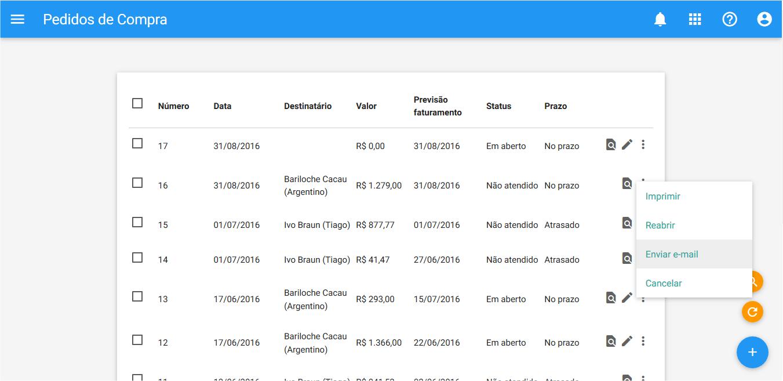 Compras - Pedido de compra - Reenviar Email