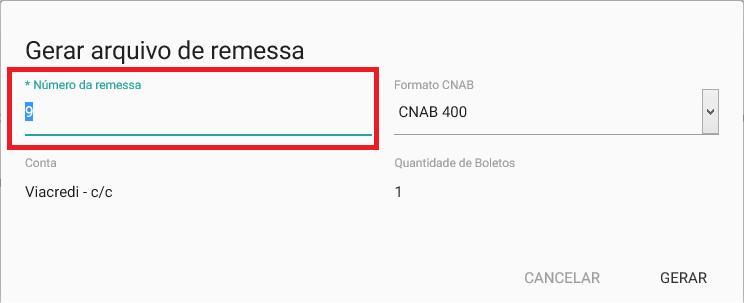 Financeiro - Boleto com registro - Numero