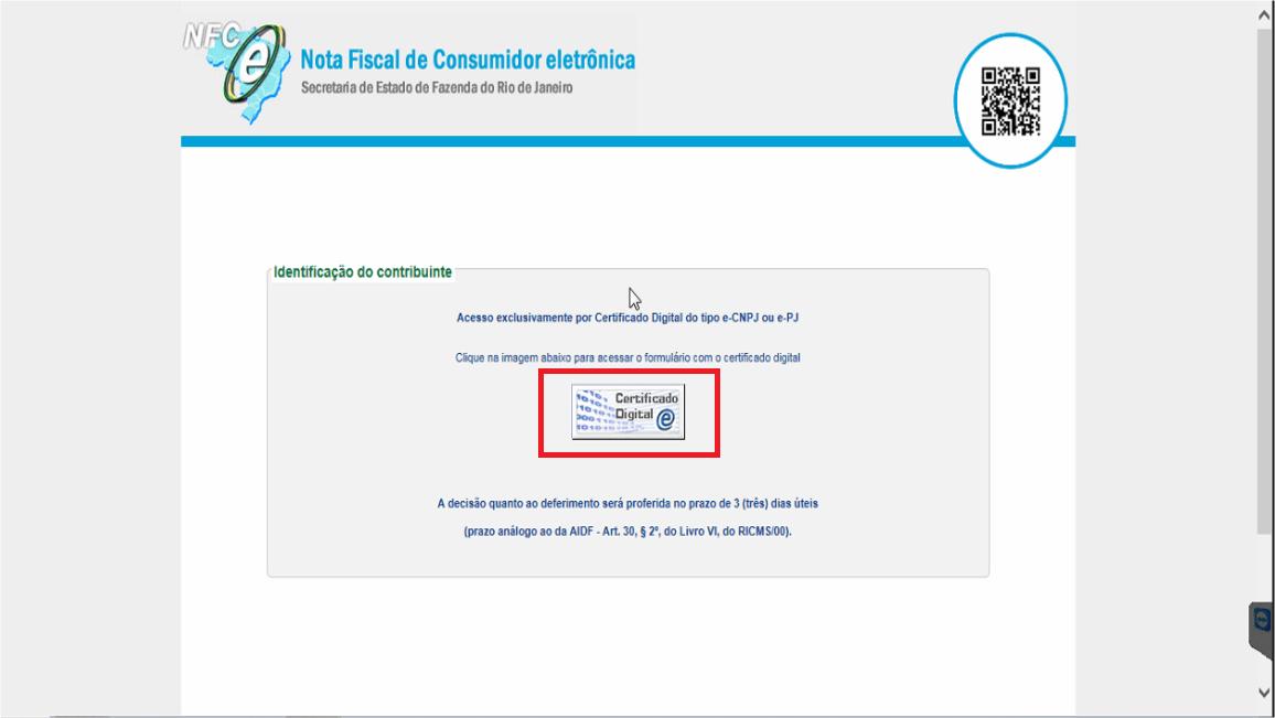 Sefaz RJ - Site - NFC-e Certificado