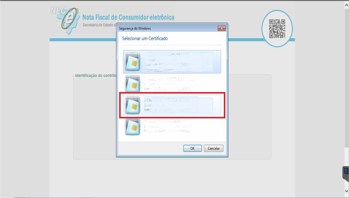 Sefaz RJ - Site - NFC-e Selecao